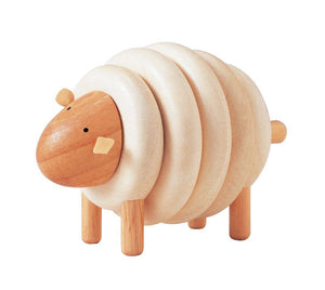 Wooden Lacing Sheep - littlelightcollective