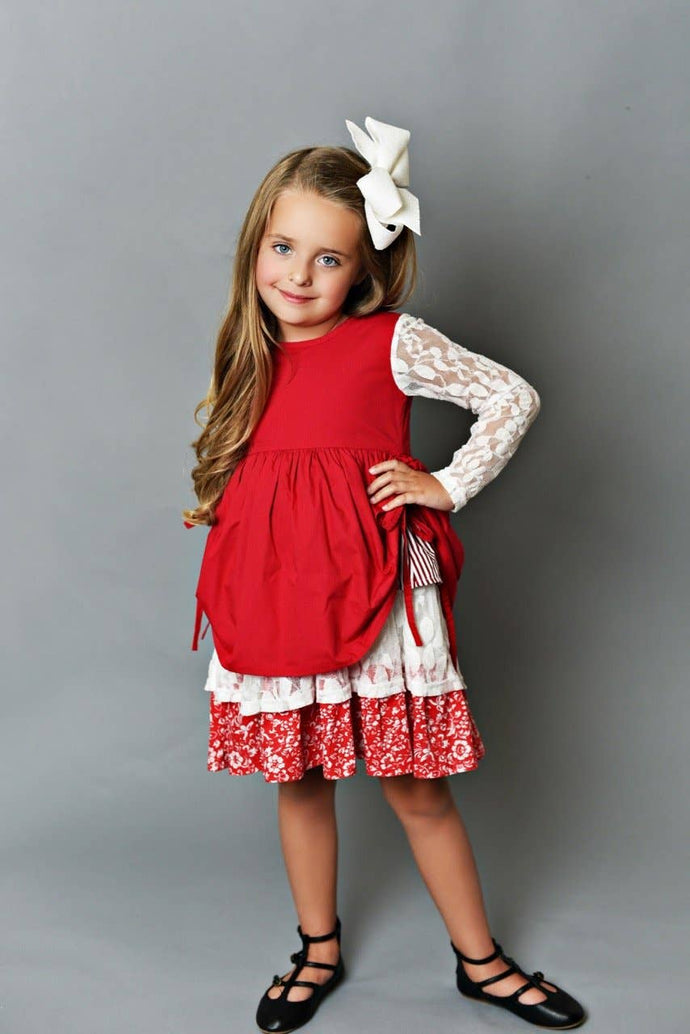 Red Holiday Cheer Dress - littlelightcollective