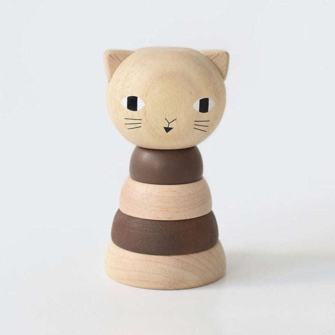 WOOD STACKER - CAT - littlelightcollective