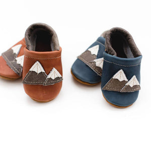 Shoes with Designs - Cedar Mountain Leather Baby Moccs - littlelightcollective