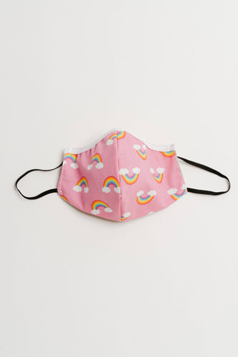 Pink Rainbow Face Mask - Children - littlelightcollective