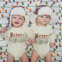 Load image into Gallery viewer, Merry Christmas Organic One Piece Onesie - littlelightcollective
