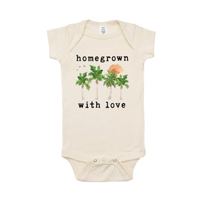 Homegrown with Love Organic One Piece Bodysuit - littlelightcollective