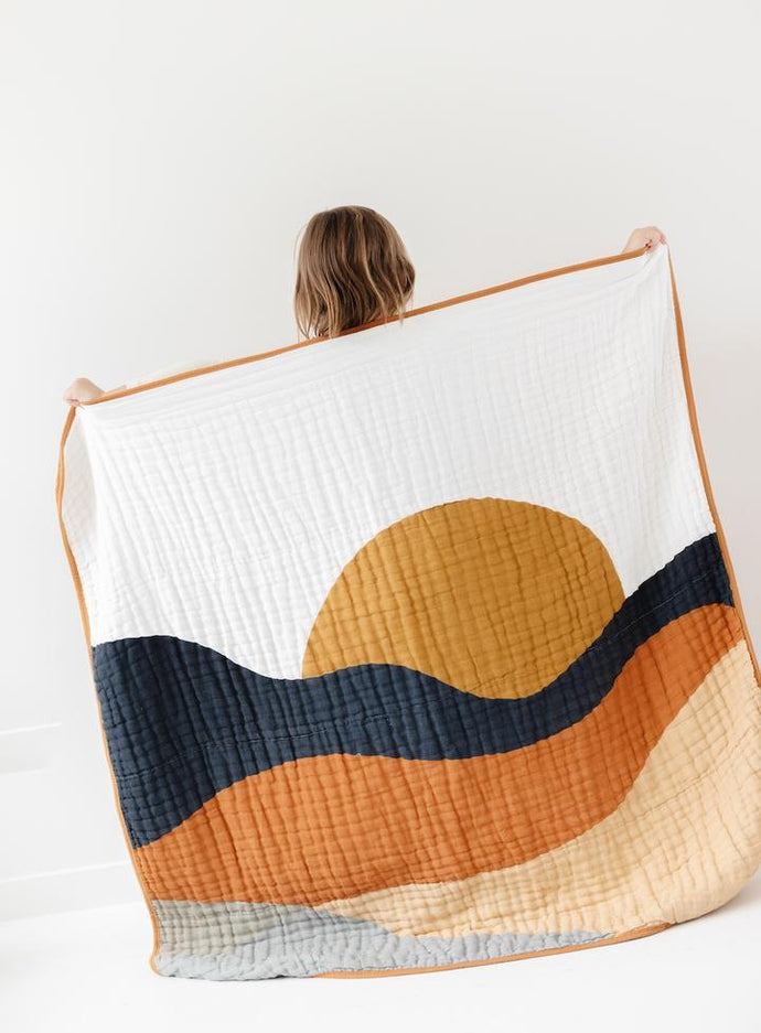 Sunset reversible Quilt - littlelightcollective