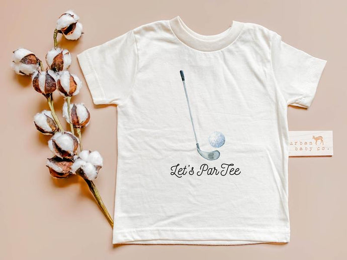 LET'S PAR TEE GOLF ORGANIC TODDLER TEE SHIRT - littlelightcollective