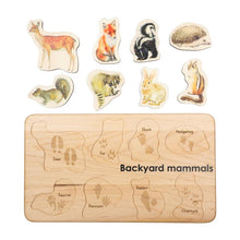 Load image into Gallery viewer, Backyard Mammals Puzzle - littlelightcollective