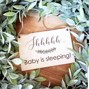 Shhhh, Baby Sleeping Sign - littlelightcollective