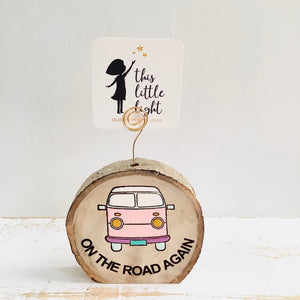 On The Road Again -Wood Round Photo/Plant Holders - littlelightcollective