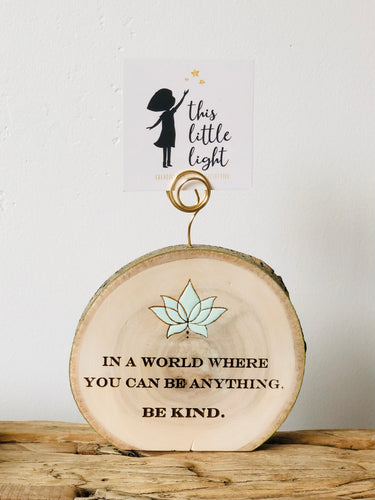 Be Kind Wood around Magnet Air Plant Holder - littlelightcollective
