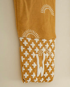 Bamboo Footed Sleeper - Sun Print Footies - littlelightcollective