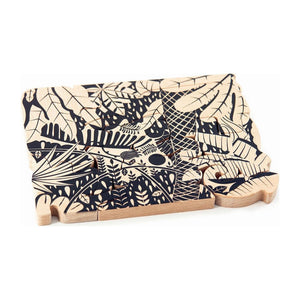 Bajo Wooden Jungle Puzzle, two sides puzzles - littlelightcollective