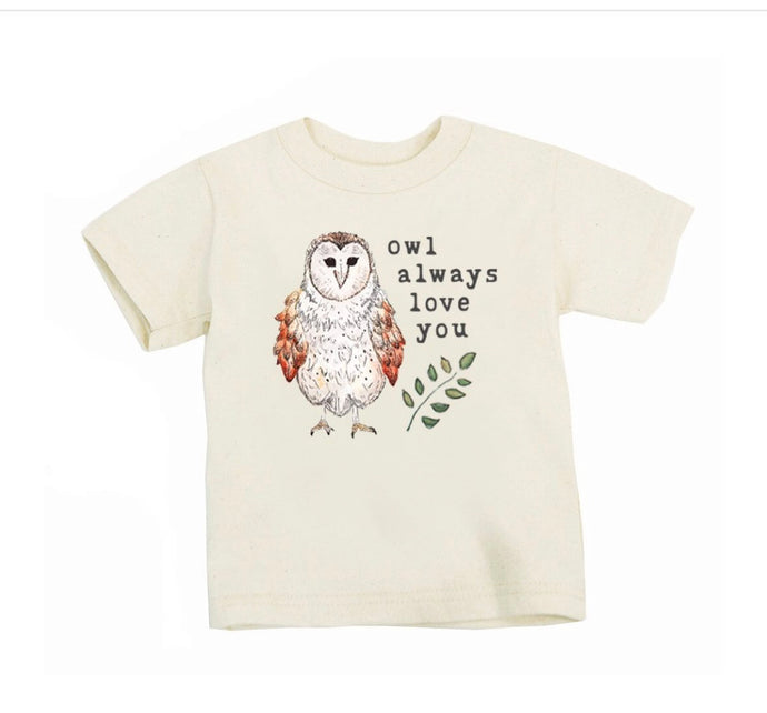 Owl Always Love You Organic T Shirt - littlelightcollective