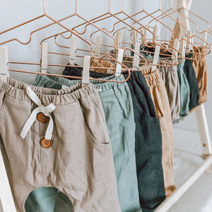 Linen Pant in Marigold - littlelightcollective