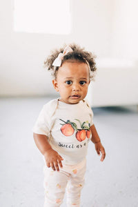 SWEET AS A PEACH ORGANIC BABY ONESIE® - littlelightcollective