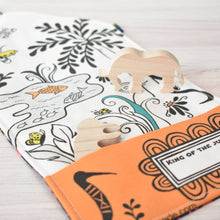 Load image into Gallery viewer, Jungle Safari - Small Tote Playmat & Wooden Toys - littlelightcollective