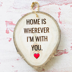 Mini Wood Round Home Keychain - littlelightcollective