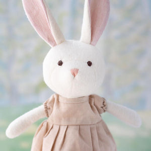 LINEN DRESS FOR DOLLS - PEACH - littlelightcollective