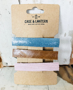 3 Pack Adult Leather Hair Clips - littlelightcollective