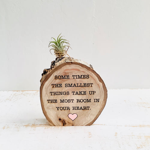Some Times The Smallest Things - Wood Round Photo  Holder - littlelightcollective