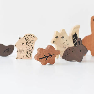 WOODEN TRAY PUZZLE - WOODLAND ANIMALS - littlelightcollective