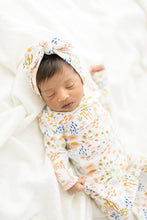 Load image into Gallery viewer, Floral Baby Gown and Hat - Bamboo Baby Gown - littlelightcollective