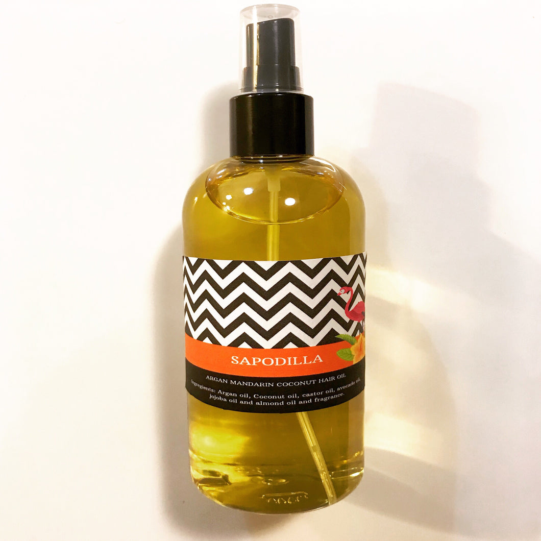MANDARIN COCONUT HAIR OIL 8OZ