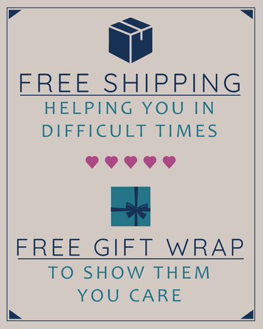 Free Shipping and Free Gift Wrap to show them you care