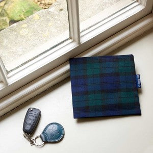 Father's Day Gift Parking Permit Holder In Blackwatch Tartan
