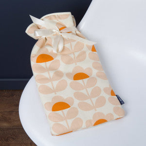 Blue Badge Co Large Hot Water Bottle with Soft Cover in Orla Kiely Sweet Pea Lifestyle