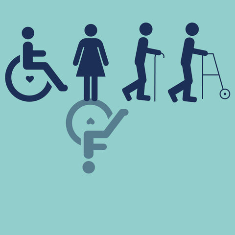 Accepting Disabilities- Blue Badge Co graphic with different disability images