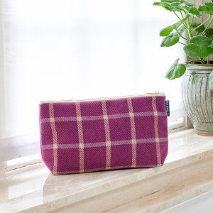 Heather Toiletries Bag, Wash Bag in window 600x600