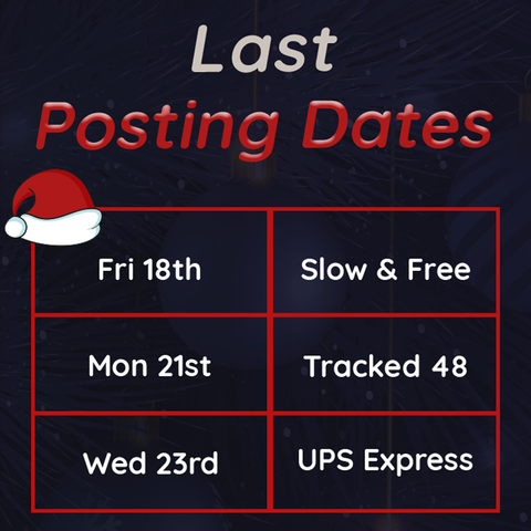 Last posting dates Christmas 2020 Blue Badge Co