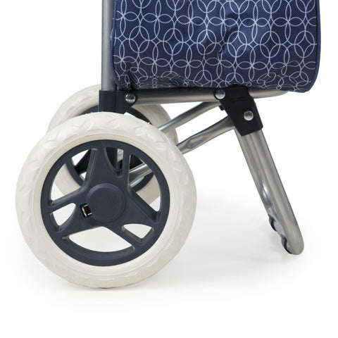 2 easy-rolling wheels make Shopping Trolley easy to manuever