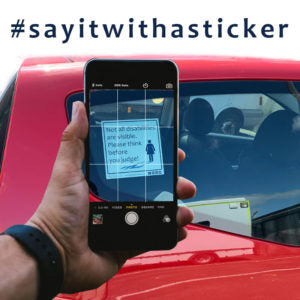 Say it with a sticker campaign