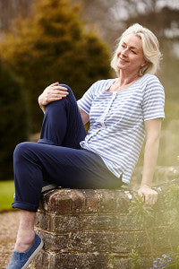 Tabatha Tee in Seaspray Stripe