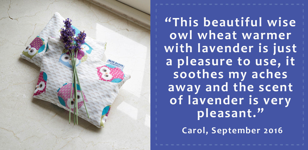 Share what you love about your Blue Badge product, like this story from Carol!