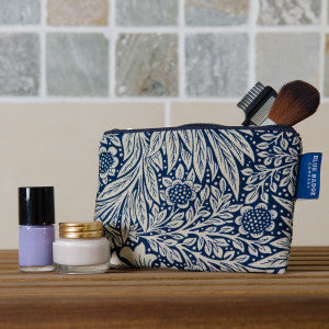 COSMETICS-PURSE-WILLIWM-MORRIS-MARIGOLD-INDIA-PRINT-BLUE-BADGE-CO