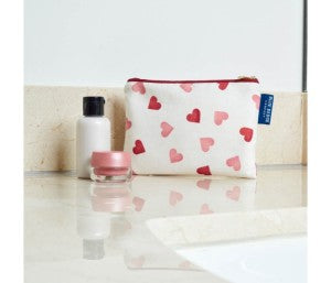 Emma Bridgewater Hearts Pattern WashBag Blue Badge Co Who Was Saint Valentine Valentine's Day blog