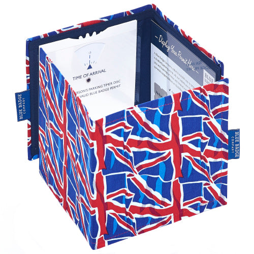 Disabled Blue Badge Wallet in Union Jack