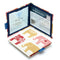 Nelly Elephant Blue Badge Wallet displaying parking clock and parking permit with hologram safe design