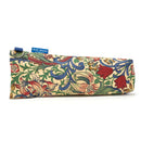 Fabric Storage Bag for Folding Walking Stick in William Morris Golden Lily with blue badge company label showing