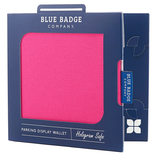 Disabled Blue Badge Wallet in Pink Panama packed in blue badge company recyclable packaging