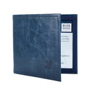 Leather Disabled Blue Badge Wallet in Navy with blue badge company logo embossed on top