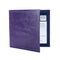 Leather Disabled Blue Badge Wallet in Purple blue badge company logo embossed on top