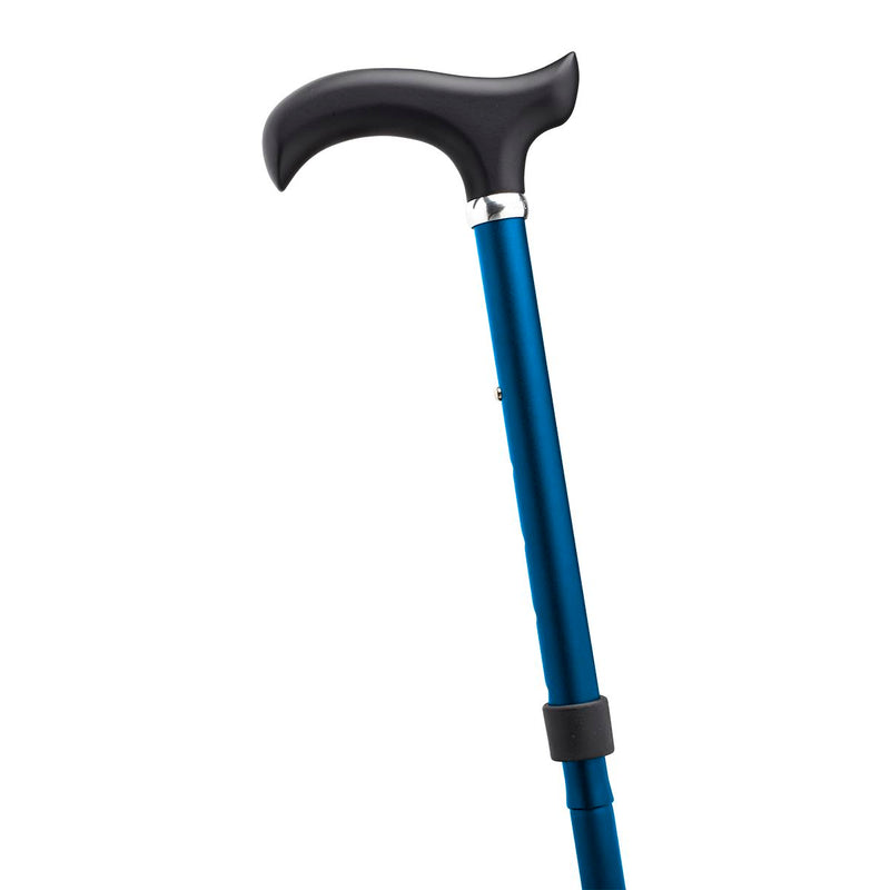 Adjustable Folding Walking Stick Cane in Navy