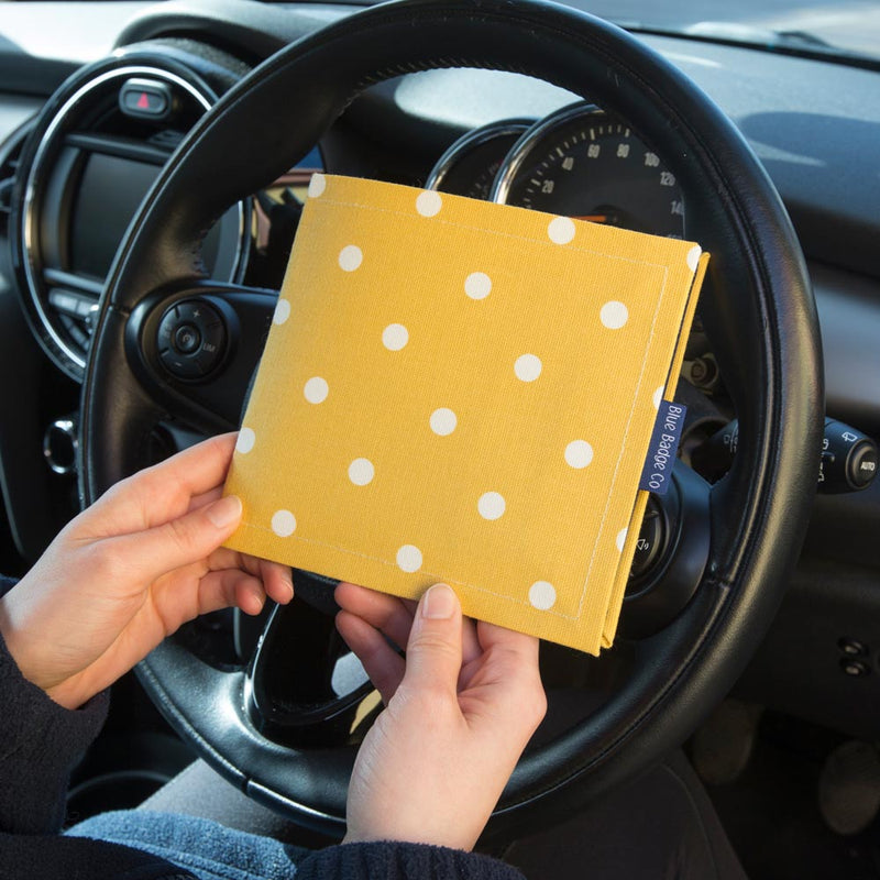 Disabled Blue Badge Wallet in Canary Yellow Spotty