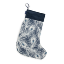 Christmas Stocking in Peacock Design over white background