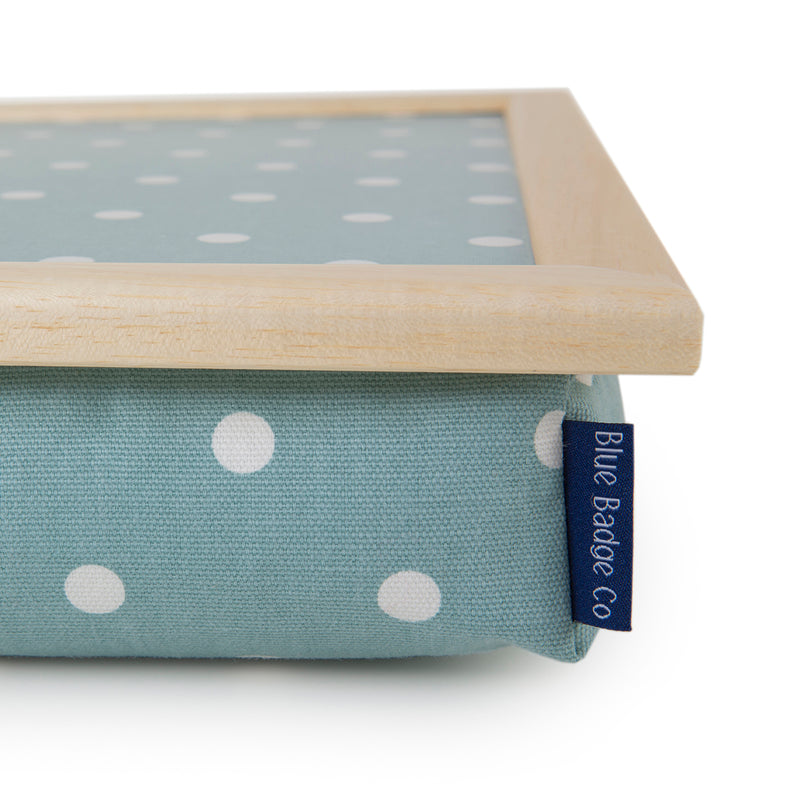 Bean Bag Lap Tray in Aqua Marine Spotty