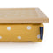 Bean Bag Lap Tray in Canary Yellow Spotty