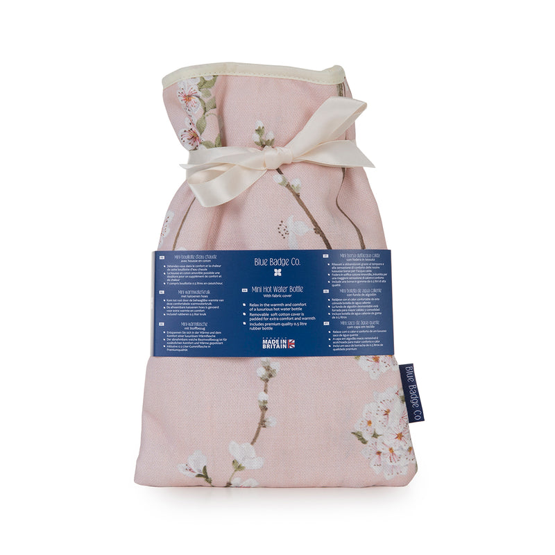 Mini Hot Water Bottle in Cherry Blossoms